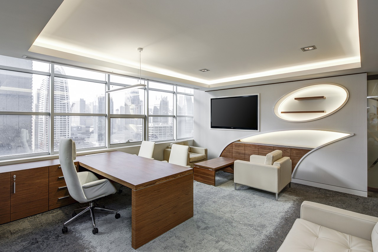 Oficina de estilo sencillo y elegante