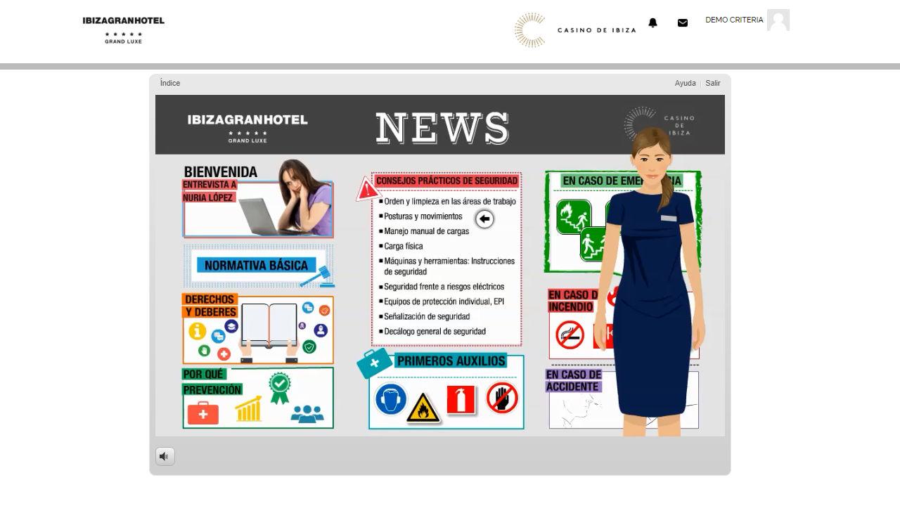 Camputura del Campus Virtual de la empresa Cálida Ibiza