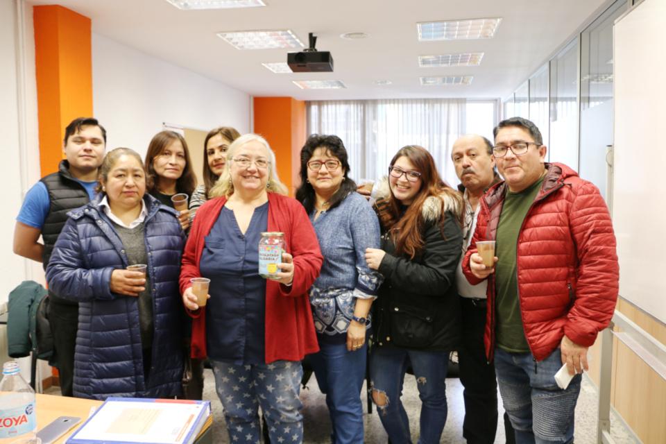 Alumnado de Criteria participando en la Chocolatada Solidaria