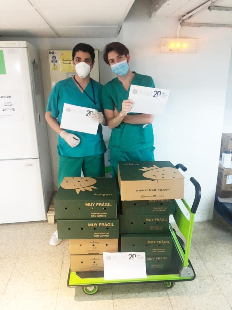 Personal sanitario del Hospital Universitario Ramón y Cajal